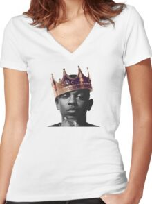 King Kendrick Women's Fitted V-Neck T-Shirt