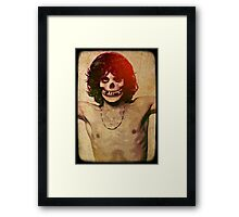THE MISFITS JIM MORRISON Mash Up (Vintage/black) Framed Print
