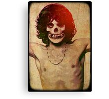 THE MISFITS JIM MORRISON Mash Up (Vintage/black) Canvas Print