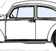 VW, Volkswagen, Beetle, Bug, Motor, Car, WHITE Sticker