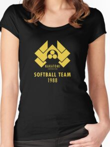 Nakatomi Corporation Softball Team Women's Fitted Scoop T-Shirt