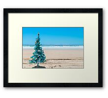 Christmas on the beach Framed Print