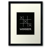 Winner Tic Tac Toe Framed Print