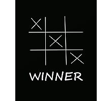 Winner Tic Tac Toe Photographic Print