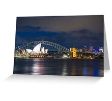 Cloudy Night Skies in Sydney Greeting Card