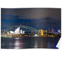 Cloudy Night Skies in Sydney Poster