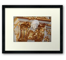 mascaron female head in the Baroque style Framed Print