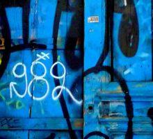 Graffiti door art Sticker