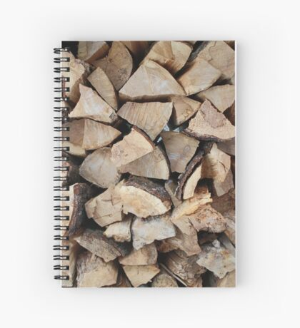 Wood pile Spiral Notebook