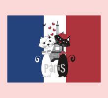 Ooh La La Cat Lovers In Romantic Paris France One Piece - Short Sleeve