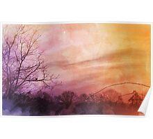 Watercolour Sunrise Poster