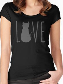 love cats Women's Fitted Scoop T-Shirt