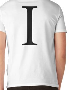 I, Alphabet Letter, India, Ida, Ian, Isabella, A to Z, 9th Letter of Alphabet, Initial, Name, Letters, Tag, Nick Name Mens V-Neck T-Shirt