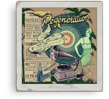 Regeneration Retro Affiche Canvas Print
