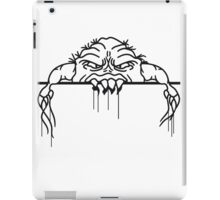 ugly face monster horror halloween grimace eat disgusting wall bleeding bite to eat scratch iPad Case/Skin