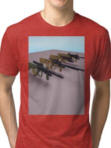Phantom Forces Weapon Shirt #1 Tri-blend T-Shirt