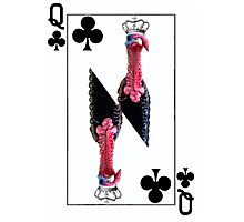 Playing Card Queen of Clubs Turkey version Photographic Print