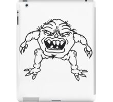 ugly face monster horror halloween grimace eat disgusting hair iPad Case/Skin
