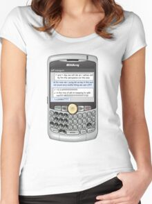 Neutral text Hotel Women's Fitted Scoop T-Shirt