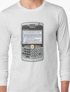 Neutral text Hotel Long Sleeve T-Shirt