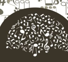 Music brain Sticker