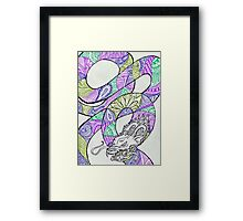 Midnight Forest Zentangle Dragon Framed Print