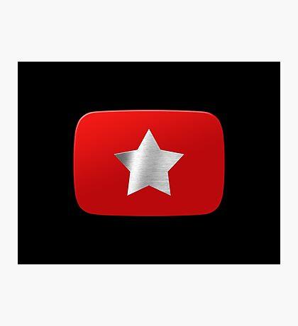 Youtube star. Exclusive logo Photographic Print