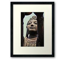 An offer to Buddha Framed Print