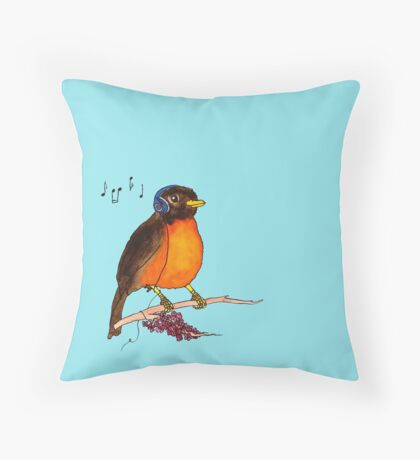 Rockin' Robin Throw Pillow