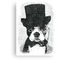Cute Vintage Dog Wearing Glasses Canvas Print