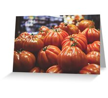 Tomatoes At The Market Greeting Card