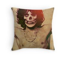 THE MISFITS JIM MORRISON Mash Up (Vintage/black) Throw Pillow
