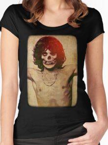 THE MISFITS JIM MORRISON Mash Up (Vintage/black) Women's Fitted Scoop T-Shirt