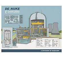 de_nuke schematics Photographic Print