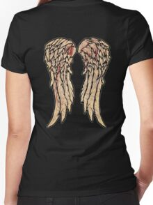 The Walking Dead, Daryl Dixon inspired Wings Women's Fitted V-Neck T-Shirt