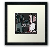 Bunny v Bunny Framed Print