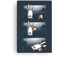 Bunny vs. Hamster Canvas Print