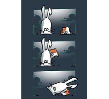 Bunny vs. Hamster Photographic Print