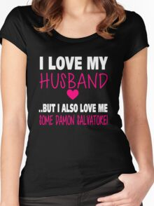 TVD. Love Me Some Damon Salvatore. Women's Fitted Scoop T-Shirt