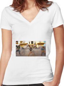 Fifth Harmony in the Work From Home Music Video #2 Women's Fitted V-Neck T-Shirt