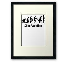 Python Silly Walk Evolution T Shirt Framed Print