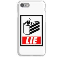 Portal's Cake - Shepard Fairey Style iPhone Case/Skin