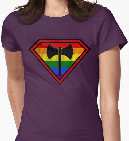 Super Lesbian Hero Womens Fitted T-Shirt
