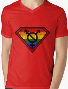 Super Gay Hero _ symbol version Mens V-Neck T-Shirt