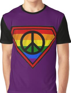 SUPER GAY HERO _peace & love version Graphic T-Shirt