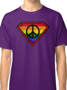 SUPER GAY HERO _peace & love version Classic T-Shirt