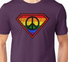 SUPER GAY HERO _peace & love version Unisex T-Shirt