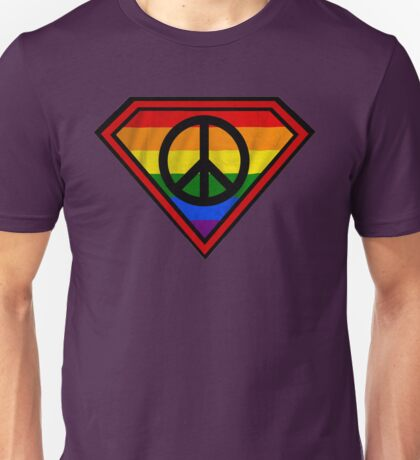 SUPER GAY HERO _peace & love version Unisex T-Shirt