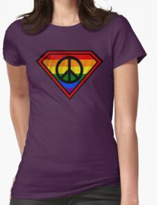 SUPER GAY HERO _peace & love version Womens Fitted T-Shirt