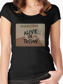 Alive in Tucson - road sign Women's Fitted Scoop T-Shirt